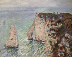 L'Aiguille And The Porte D'Eval, Etretat, 1886 by Claude Monet