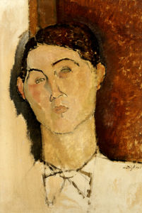 Tete De Jeune Homme, Possibly A Portrait Of Conrad Moricand, Circa 1916 by Amedeo Modigliani
