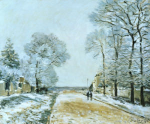 La Route, Effet De Neige (Marly-Le-Roi), 1876 by Alfred Sisley