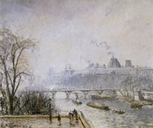 The Louvre And The Seine From The Pont Neuf - Morning Mist, 1902 by Camille Pissarro