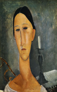 Hanka Zborowska with a Candlestick, 1919 by Amedeo Modigliani