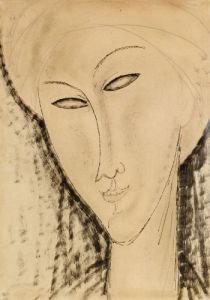 Tete De Femme by Amedeo Modigliani