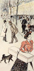 Street Scene from 'Autour Trottoir' by Theophile-Alexandre Steinlen