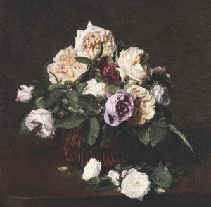 Vase De Fleurs, 1876 by Ignace-Henri-Théodore Fantin-Latour