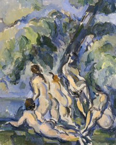 Bathing Study For Les Grandes Baigneuses, Circa 1902 by Paul Cezanne
