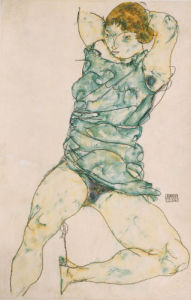 Reclining Girl, 1914 by Egon Schiele