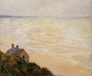 The Hut At Trouville; Low Tide, 1881 by Claude Monet