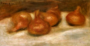Still Life With Onions by Pierre Auguste Renoir