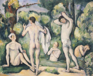 The Five Bathers, Circa 1880 by Paul Cezanne