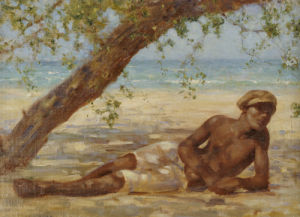 Samuel Under A Tree, Jamaica by Henry Scott Tuke