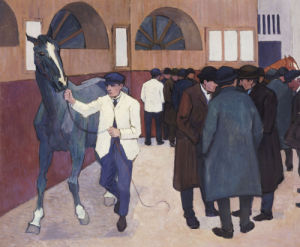 Horse Dealers At The Barbican, C.1918 by Robert Bevan