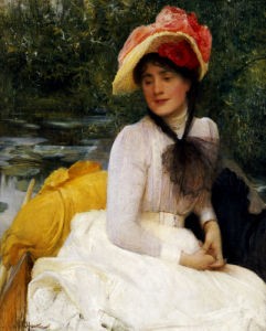 Girl In A Punt by Arthur Hacker