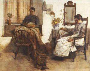 Quiet Moments, 1889 by Albert Chevallier Tayler