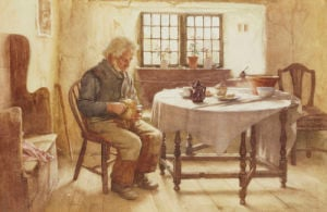 A Poor Man's Meal, 1891 by Walter Langley