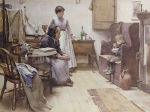 The Waif, 1889 by Walter Langley
