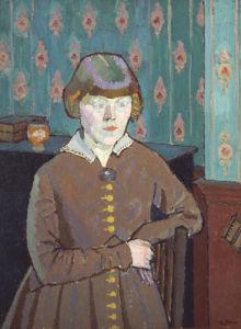 Miss Ruth Doggett, Circa 1915 by Harold Gilman