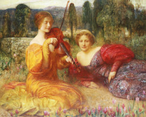 Musicienne Du Silence, 1900 by Arthur Hacker