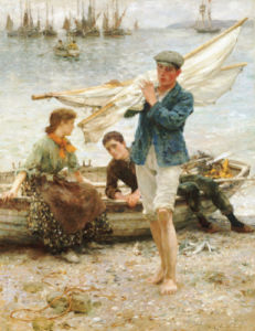 Return From Fishing, 1907 by Henry Scott Tuke