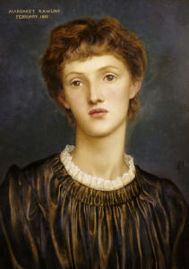 Portrait Of Margaret Rawlins, 1883 by George Frederic Watts