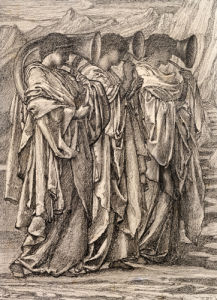 Study For 'The Challenge In The Wilderness', C. 1875 by Sir Edward Burne-Jones