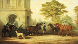Lady Williams-Wynn's Favourite Phaeton, Ponies, Horses & Dogs, 1865 by Edward Lloyd