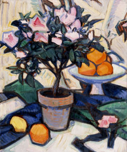 Pink Azalea And Oranges, Circa 1913 by Samuel John Peploe