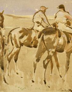 American Jockeys, Or Racehorses by Joseph Crawhall