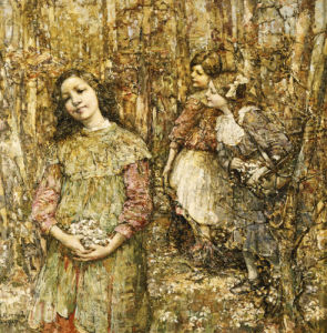 Gathering Snowdrops, 1917 by Edward Atkinson Hornel