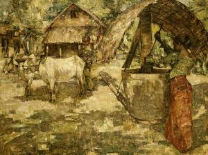Milling Grain, Ceylon, 1907 by Edward Atkinson Hornel