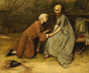 The Proposal, 1869 by John Pettie