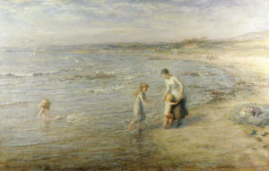 Paddling, 1901 by Hugh Cameron