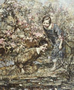 The Lily Pond, 1917 by Edward Atkinson Hornel