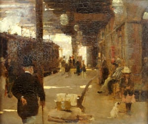 Hastings Railway Station, C.1890 by Walter Frederick Osborne