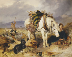 The Wood Cutter by Sir Edwin Henry Landseer