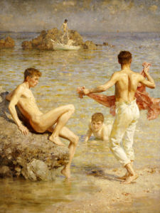 Gleaming Waters, 1910 by Henry Scott Tuke
