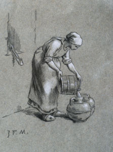 Woman At A Well by Jean Francois Millet