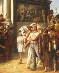 Caratacus Being Paraded By The Emperor Claudius by Thomas Davidson