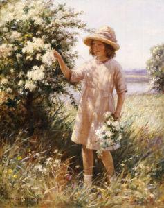 Picking May Blossom by William Kay Blacklock