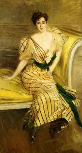 Portrait Of Madame Josephina Alvear De Errazuriz, 1892 by Giovanni Boldini