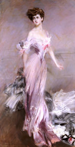 Portrait Of Mrs. Howard-Johnston, 1906 by Giovanni Boldini