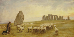 Returning Home, Stonehenge, Wiltshire, 1891 by Edgar Barclay