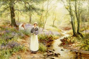 Picking Bluebells by Ernest Walbourne