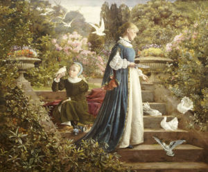 Feeding The Doves by Francis Sydney Muschamp