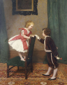 Miss Lily's First Flirtation, 1867 by James Hayllar