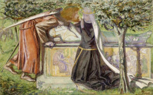 Arthur's Tomb: Sir Launcelot Parting From Guenevere, 1854 by Dante Gabriel Rossetti