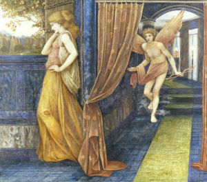 Cupid And Psyche by John Roddam Spencer Stanhope