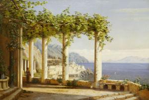 Amalfi Del Convento Dei Capuccini, 1880 by Eiler Rasmussen Eilersen