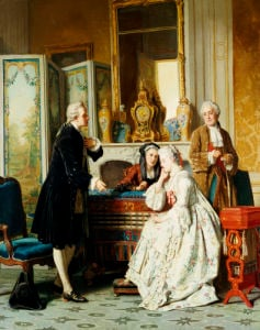 The Suitor, 1860 by Jean Carolus