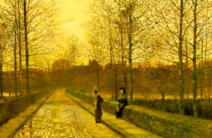 In The Golden Gloaming by John Atkinson Grimshaw