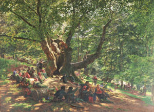 Robin Hood And His Merry Men In Sherwood Forest, 1859 by Edmund Warren George